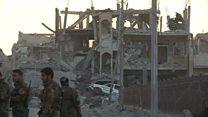 نبرد رقه؛ آخرین گروه از داعشیهای سوری شهر را ترک کردند