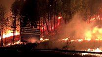 Las impresionantes imágenes de los incendios que estan arrasando Galicia