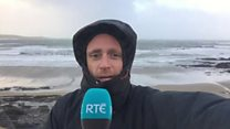 Reporter caught in Ophelia storm