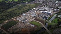 Aerial view of £330m university project
