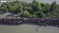 Myanmar'daki insani krizin havadan görüntüsü