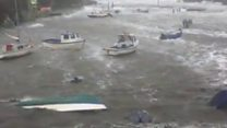 'Worst' storm sinks five dinghies