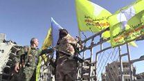 Syria fighters celebrate Raqqa capture