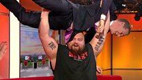 World's strongest man v BBC presenter