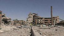 ISの「首都」ラッカ解放 記者が見た市内の様子