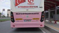 The pink bus designed to protect women