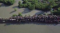 Impactantes imágenes aéreas del éxodo masivo de musulmanes rohingyas que huyen de Myanmar