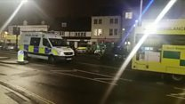 Chippenham explosion: A cordon has been put in place