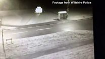 Marble poppy collapse caught on CCTV