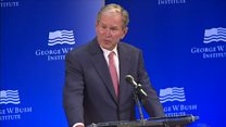 George W Bush: 'Bigotry seems emboldened'