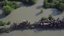 Imagens aéreas mostram dimensão de fuga em massa na maior crise humanitária atual