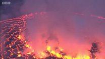 สังเกตการณ์ภูเขาไฟมฤตยูในคองโก