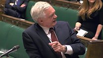 David Davis updates parliament on Brexit talks