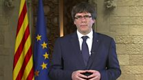 Catalan president's message to Europe
