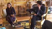 Macron's dog interrupts meeting