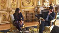 El momento en que Nemo, el perro de Macron, interrumpe una reunión en el Palacio del Elíseo