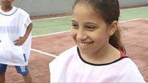 Kicking back: Brazil's football girls