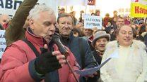 На протесте в защиту русских школ Латвии прочли «Буревестника» Горького