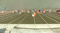 Новий рекорд: масовий стрибок бейсджамперів