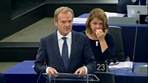 Stay united or face Brexit defeat, Tusk tells EU