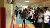 'Guard of honour' for young cancer patient