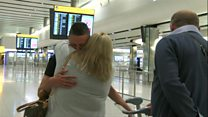 Mother of IS fighter greets returning son