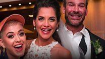 When celebrities crash weddings