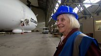 Aircraft treat for woman's 90th birthday