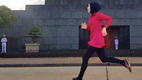 Khăn trùm đầu hijab thể thao