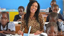 The Congolese model who started a school