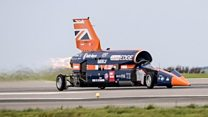 Supersonic car gets first public run