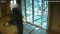 الفيديو: بطولة أمريكي تفشل محاولة سرقة بنك في بنسيلفينيا