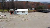 House swept away by New Hampshire floods