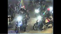 Moped gang in designer handbag raid