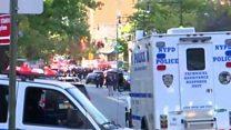 Police attend scene of Manhattan attack