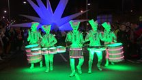 Derry lit up by spooky parade spectacle