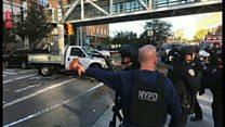 ニューヨークでトラック暴走 動揺する現場、走る容疑者