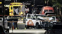 New York truck attack: 'I saw him hit a school bus'