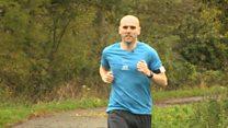 Blind runner's solo marathon challenge