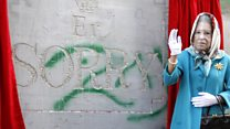 'Er... Sorry': Banksy's new West Bank work
