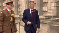 New defence secretary arrives at MoD
