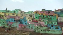 रंगीन होते काबुल के घर