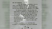 Cómo una carta cambió el destino de Medio Oriente