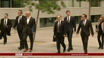 En Espagne, des leaders catalans déchus en détention provisoire