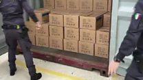 Italy stops huge drug shipment to Libya