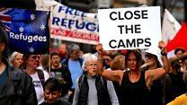 Australians protest over Manus plight