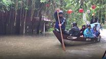 Vietnam flooded by Typhoon Damrey