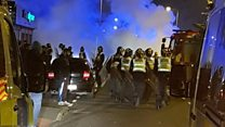 'Riot police' were called to two areas of Leeds last night