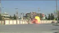 Afghan forces blast TV station wall