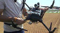طائرة دون ديار مزودة بكاميرات ومجسات لفحص سلامة النباتات